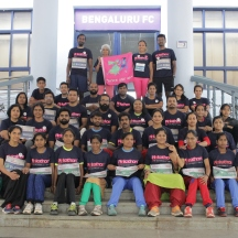 #PinkathonDayBengaluru VisuallyImpaired Athletes and guides