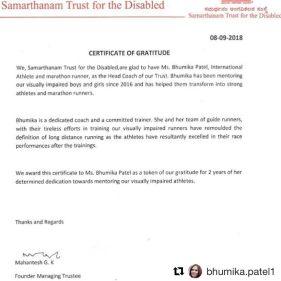 Samarthanam Headcoach certificate Bhumika patel_page-0001