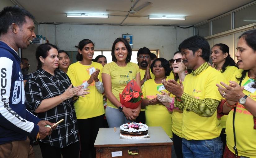 Best Birthday ever with Mumbai's 120 VisuallyImpaired RunnerGirls!