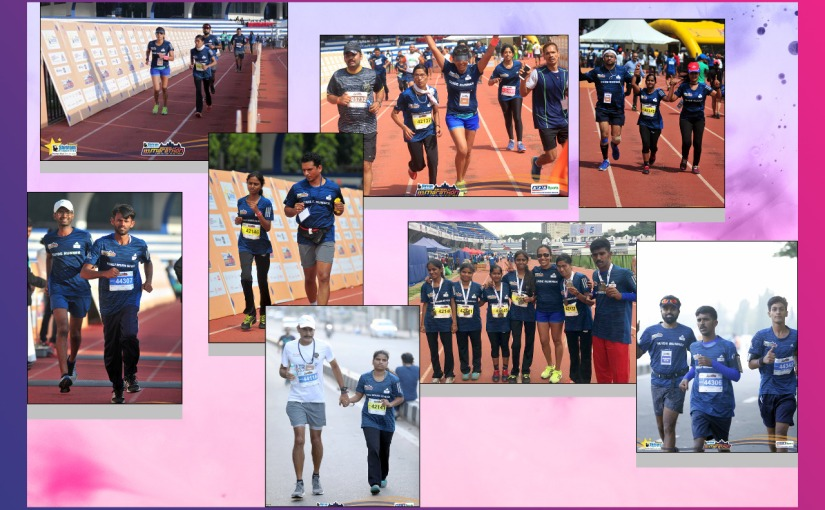 Limca Book Record :Highest number of visually challenged full marathonrunners